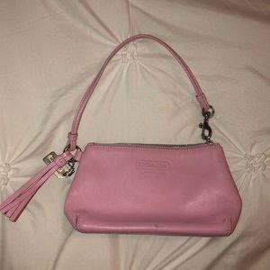 Light pink coach wristlet